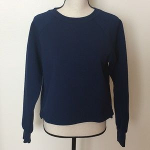 The Fifth Label Navy Boxy Hi-Low Sweater Sz-S
